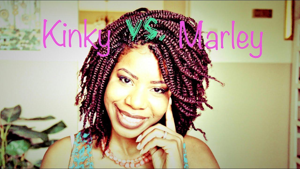 Kinky Twist Hair vs. Marley Twist Hair | TEEDAY6 - YouTube