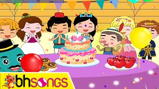 Happy Birthday Song Lyrics Vocal | Fairytale Style | Nursery Rhymes | Ultra HD 4K Music Video