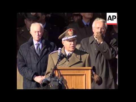 Italian troops leave for Afghanistan peacekeeping mission