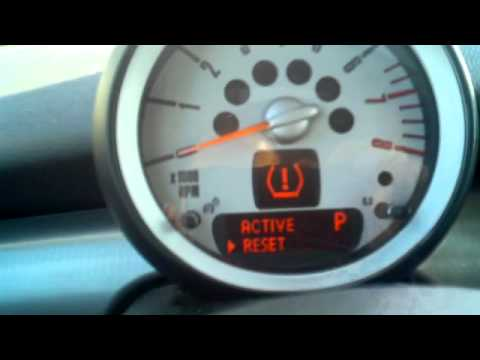 Mini Cooper Tire Pressure Reset and Checking Service Intervals