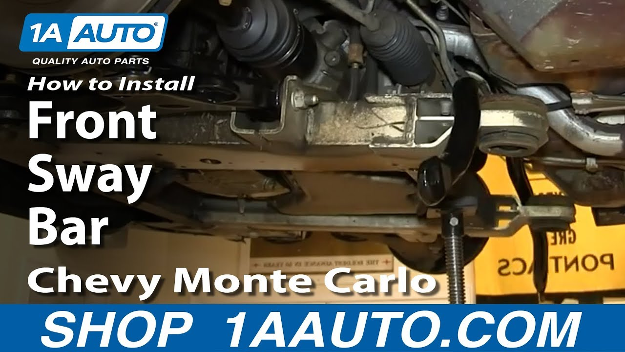 How to install replace front sway bar 2000 07 chevy monte carlo youtube