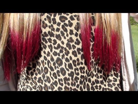 How To Dip Dye The Ends of Your Hair Pink!