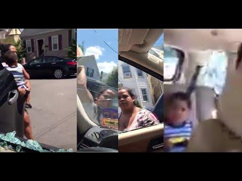 Dominicana celosa desbarata a martillazos vehículo de su esposo en New Jersey