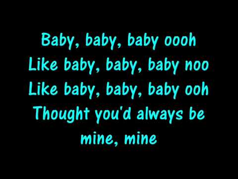 Baby Justin Bieber Lyrics video