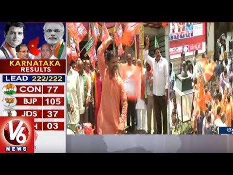 BJP Leaders In Warangal Celebrates Karnataka Elections Results | V6 News
