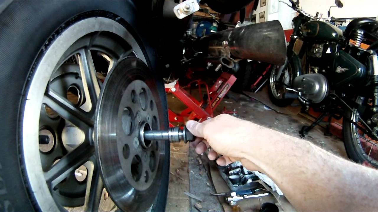 How To Install Rear Wheel Bearing On Harley Davidson Softail