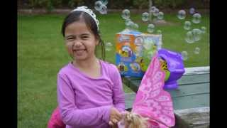 Gazillion Bubble Machine Play time at the Park Kids Balloons and Toys