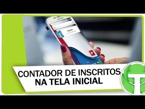 Como colocar contador de inscritos na tela inicial do Android