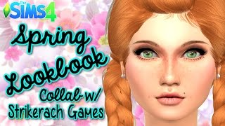 The Sims 4 | Spring Inspired Lookbook - Collab w/ Strikerach Games