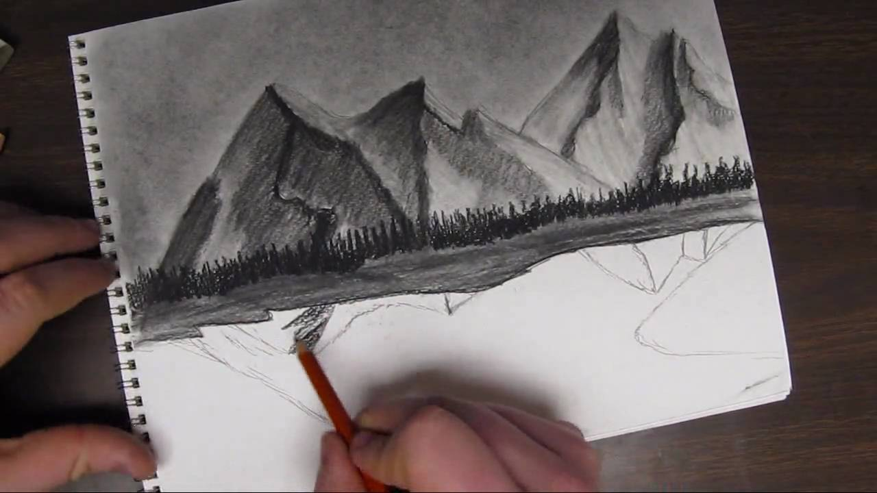 Mountains And Rivers Drawing How to Draw a Mountain
