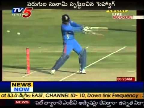 Virender Sehwag Smashes 219 To Steal ODI Record From Sachin (...