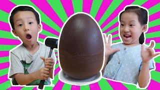 초콜렛 서프라이즈 에그안에 겨울왕국 에그가? Chocolate Surprise Egg - Frozen Surprise egg [제이제이 튜브 - JJ tube]
