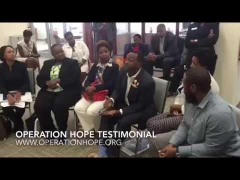Passionate HOPE Client at FEMA & HOPE MOA Renewal