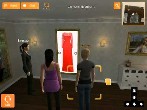 Viviwo virtual world. 3D shop example using iPad