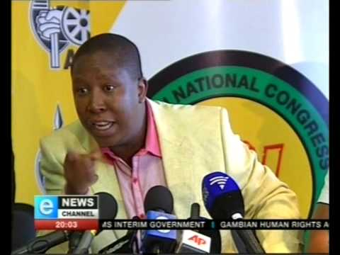 Julius malema insults bbc journalist