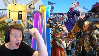 Unboxing 101 NEW Cosmetic Loot Boxes - New Legendary Skins, Emotes & Items [Overwatch]