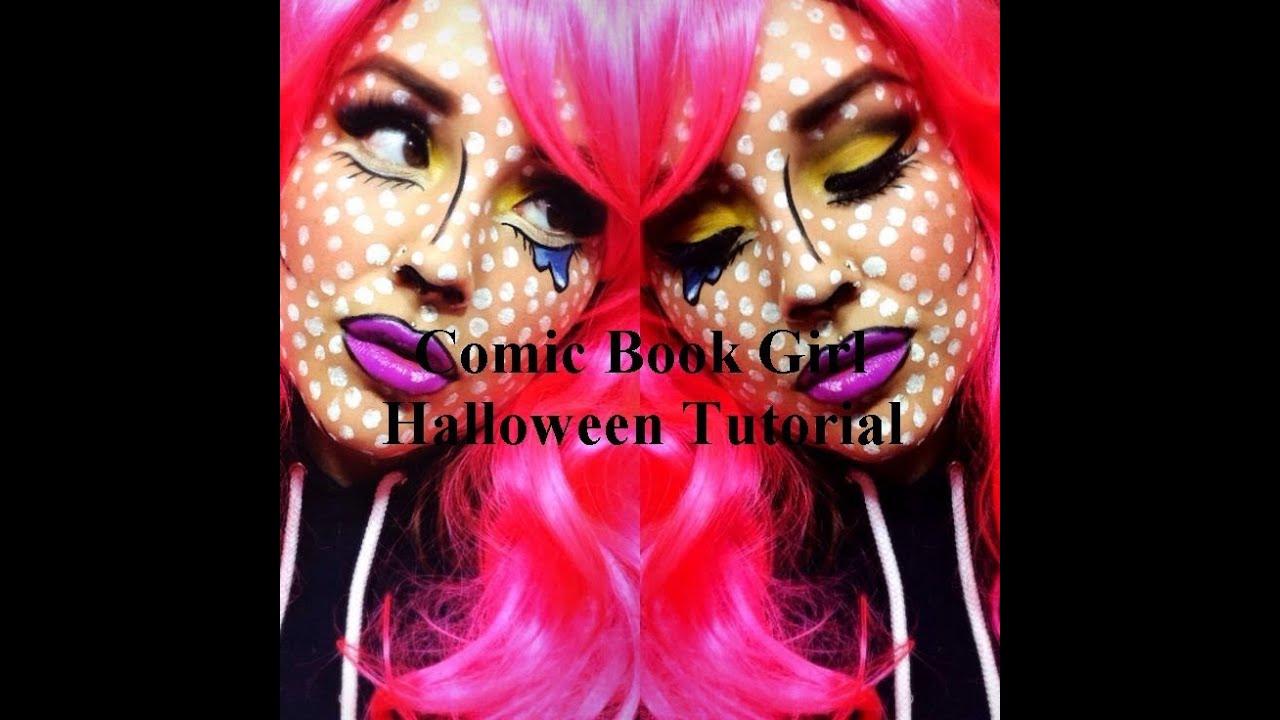 Comic Book Girl Makeup Pop