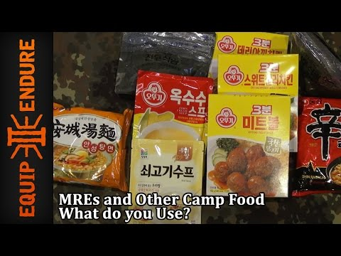 MREs and Other Camp Food. What do you Use? Equip 2 Endure YouTube Cut
