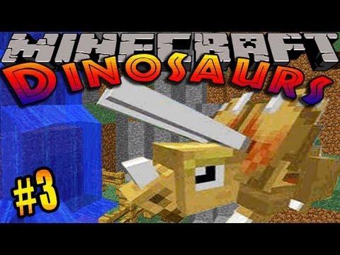 Minecraft Dinosaurs - ( Dinosaur mod ) - Episode 3 - CULTURE VAT & FOSSIL HUNTING!