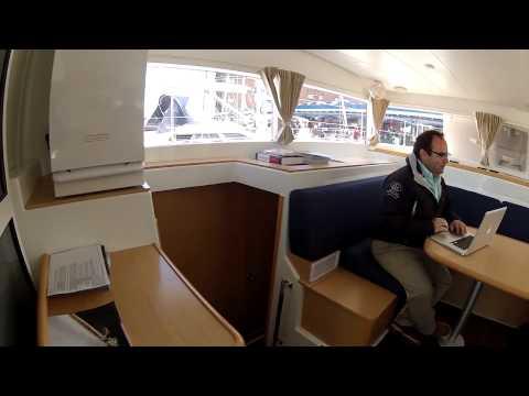 Lagoon 400 Catamaran Toured at Annapolis Spring Show by ABKvideo