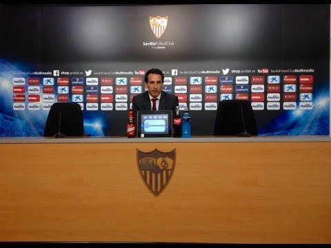 Rueda de prensa de Unai Emery. Sevilla FC 0-0 Atlético de Madrid