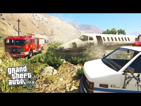 GTA 5 PC Mods - FIREFIGHTER, PARAMEDIC & COAST GUARD RESCUE MOD!!! (GTA 5 Mods Gameplay)