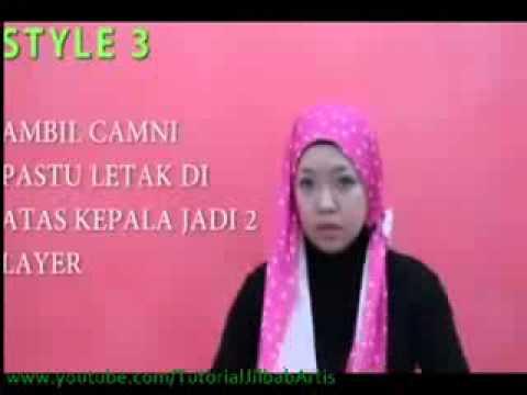 Jilbab Inspirasi Fatin - 1 Minit Hijab Toturial ~ 3 Style Za Shawl ~ Ep 5 avi