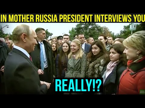 LIKE A BOSS: Putin Makes One Student Girl a Very Happy Person