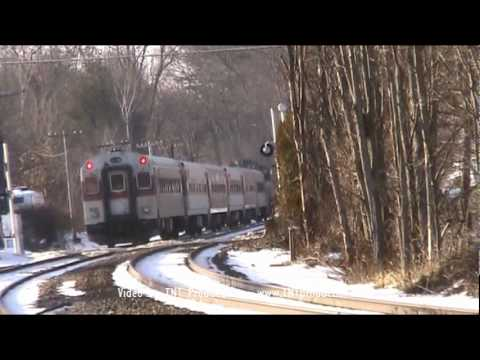 MBTA & PanAm Southern Trains w/ Detector in Shirley, MA