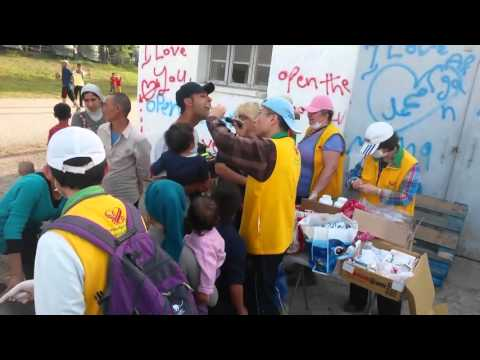 Greece-Apr. 13, 2016: Idomeni: Haircuts/Medical Aid for Refugees