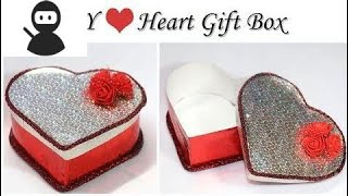 How to make Heart Shaped Box | Valentine Gift Box | DIY Gift Box with Paper and Cardboard New 2018