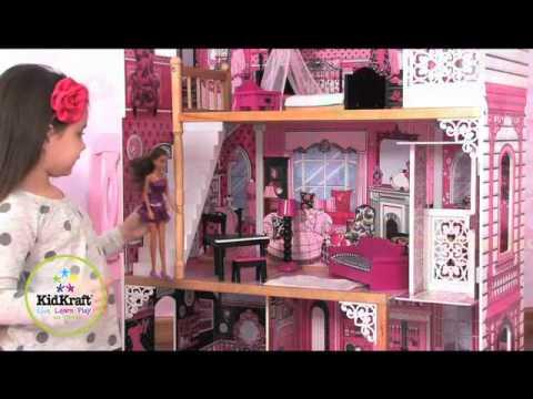 Maison de poup es amelia jouets en bois kidkraft sur youtube - Maison poupee kidkraft ...