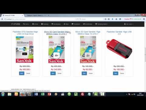 Preview Perancangan Website Toko Online/ E-Commerce Responsive Berbasis PHP, MySqli, dan Bootstrap