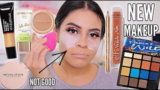TESTING NEW MAKEUP / FULL FACE FIRST IMPRESSIONS + WEAR TEST! | JuicyJas