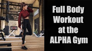 Full Body Workout at the ALPHA Gym in Second Life