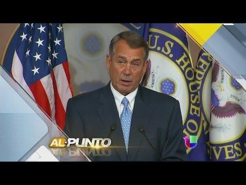 Las reacciones de John Boehner al ser cuestionado sobre la reforma migratoria en Al Punto