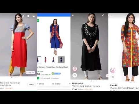 Kurtis Haul under 1000/- // Flipkart and Myntra Shopping haul