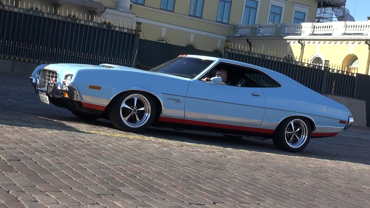 1972 Ford Gran Torino Sport Startup And Great Exhaust