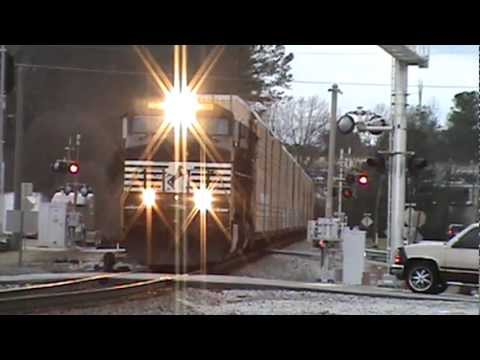 Norfork Southern Autoracks Eastbound train Austell,Ga. 2-13-2013 Pt.2