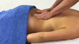 Massage - how to apply whole hand effleurage