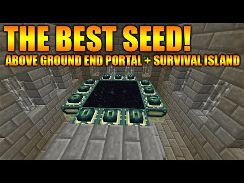 ★Minecraft Xbox 360 + PS3: BEST SEED Above Ground End Portal/Stronghold + Survival Island & MORE ★