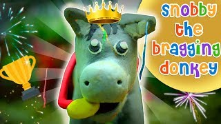 The Bragging Donkey   English Cartoon Story   Animal Stories for kids with Moral