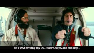 "The Dictator - ""Helicopter"" Scene whit text/subtitles - Official [1080p HD]"