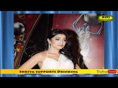Sexy Shriya supports Drinking