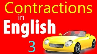 English grammar & speaking lesson in Hindi, Contractions in English, English Urdu speaking course