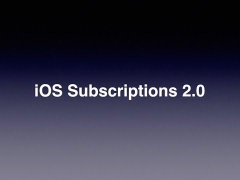 iOS Subscriptions 2.0