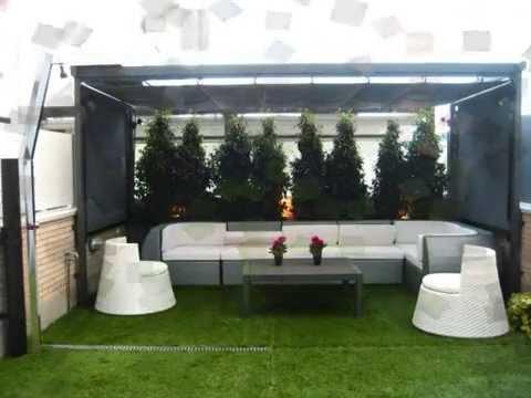 Cesped artificial en terrazas patios y jardines youtube for Patios y jardines