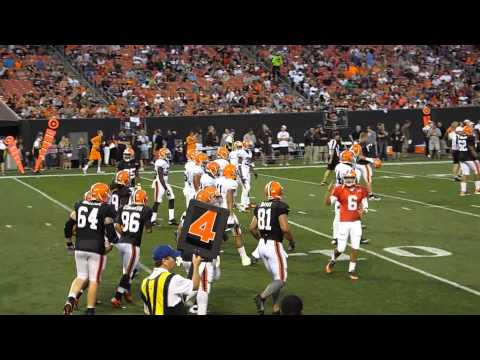#3 Cleveland Browns Family Night 8-3-2013