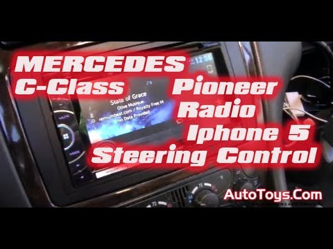MERCEDES BENZ W203 C-CLASS RADIO with CRUX INTERFACE WIRING (Pioneeer AVHX3500BT CDIV202AV)