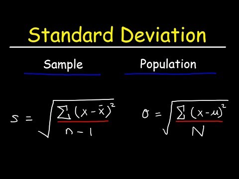 Standard Deviation Formula. Statistics. Variance. Sample and Population Mean
